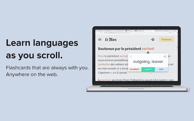 Masterlingo - Learn languages as you scroll
