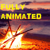 Beach Fire Animated Wallpaper