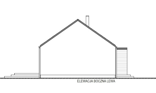 Domek Pani Darii 047 ES - Elewacja lewa