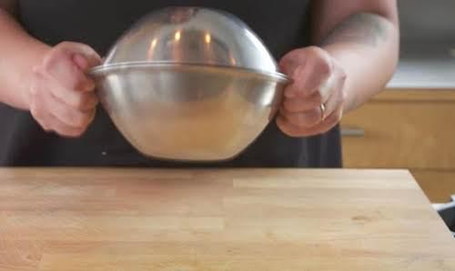 Step 3. Vigorously shake bowl.