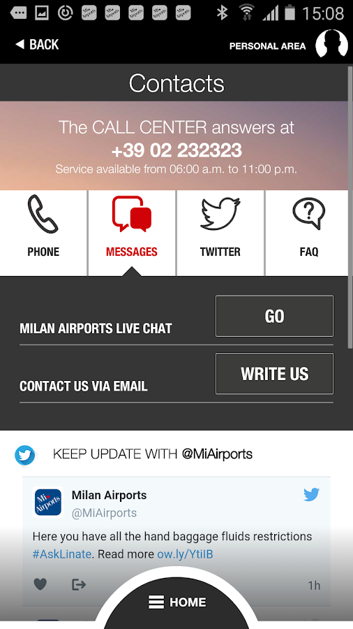 Milan Airports- screenshot
