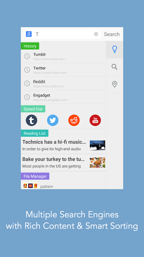 Mercury Browser for Android- screenshot