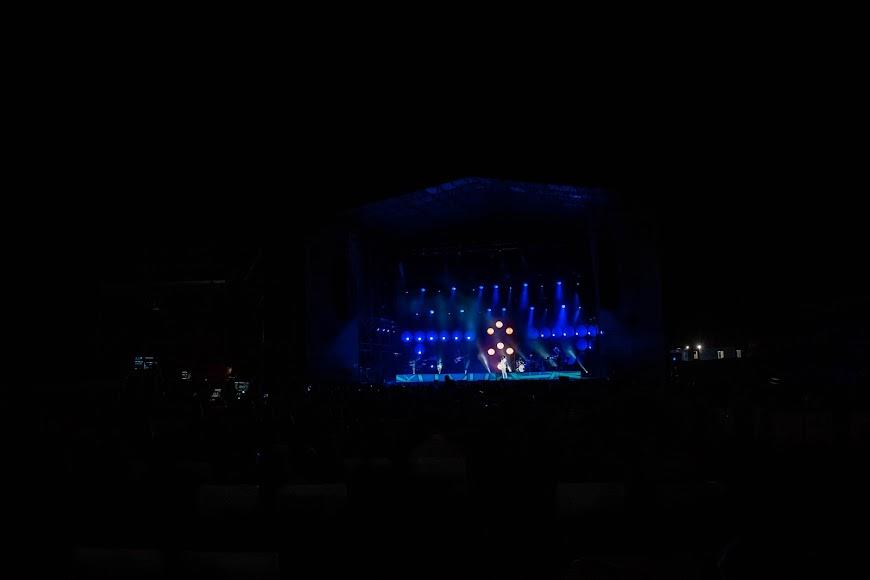 El público estuvo muy animado durante todo el concierto