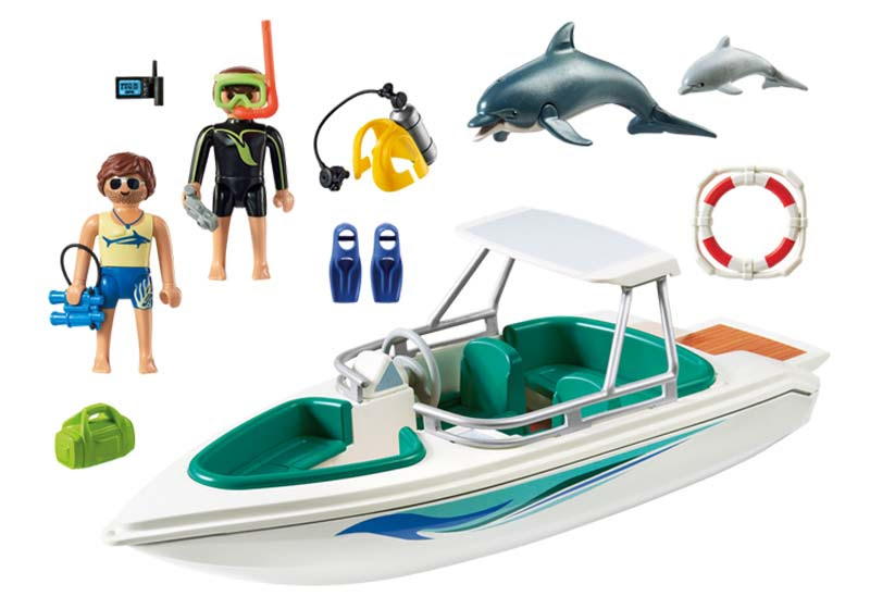 Contenido real de Playmobil® 6981 Equipo de Buceo con Lancha