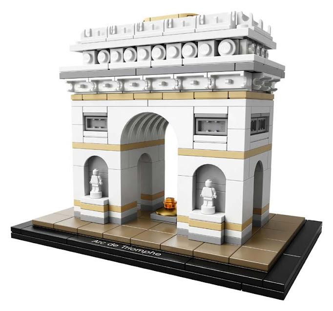 Contenido de Lego® 21036 Arco del Triunfo