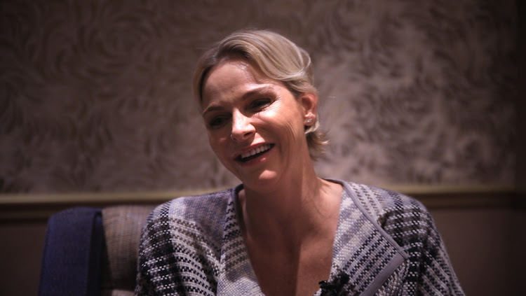 Princess Charlene of Monaco during an interview with TimesLIVE on July 11 2018