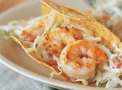 Thai Influenced Shrimp Tacos Recipe