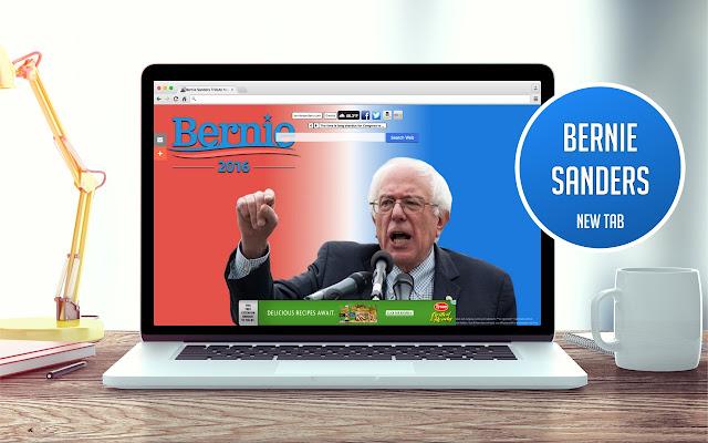 Bernie Sanders Tribute New Tab