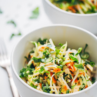 Vietnamese Chicken Salad with Rice Noodles.