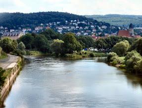 Photo: ...der wohl längste Kuß, hier küssen sich die Werra (links) und Fulda (rechts) und machen daraus die Weser.