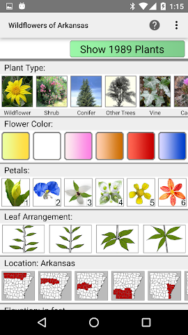 android Arkansas Wildflowers Screenshot 0