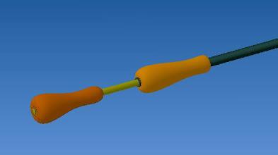 Photo: on peut ajouter une poignée sur le tube mais a l'usage elle se révèle inutile
