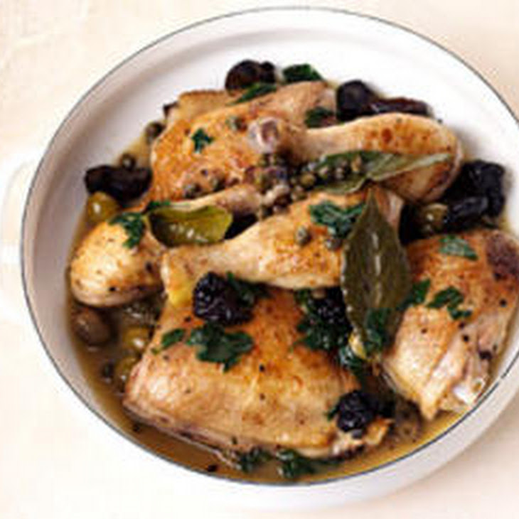 Braised Chicken with Prunes, Olives, and Capers Recipe | Yummly