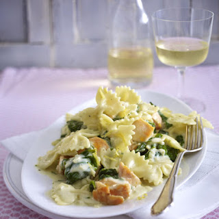 Salmon and Spinach Farfalle