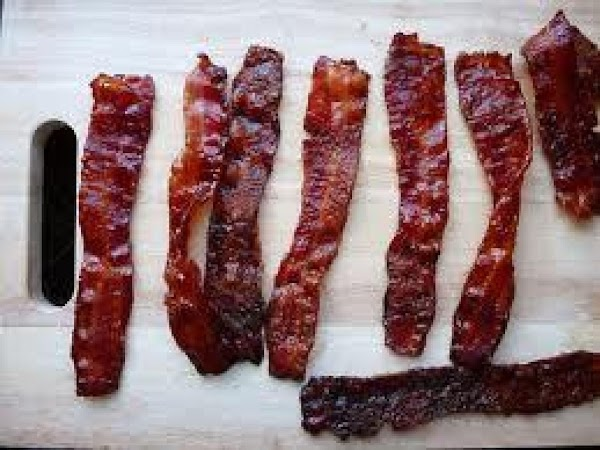 Preheat oven to 400^.Line a baking sheet with foil or parchment paper..Candied Bacon Mixture...