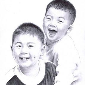 Mario & Moreno Majadi  by Franky Go - Drawing All Drawing