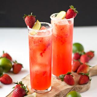 Roasted Strawberry Margaritas