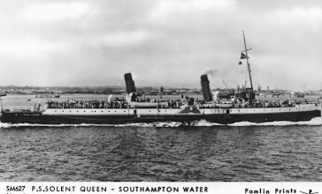 "Photo: P.S. ""Solent Queen"" (by courtesy of Red Funnel Steamers)"