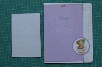 Photo: Материалы для шаблонов: картон для детского труда, обложка от ученической тетради.