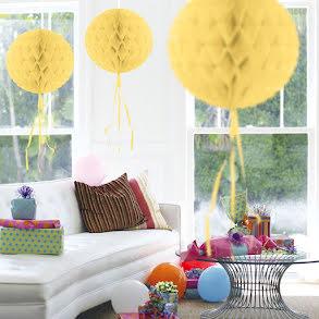 Dekorationsboll, gul