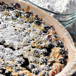 Rustic Blueberry Cake Clafoutis