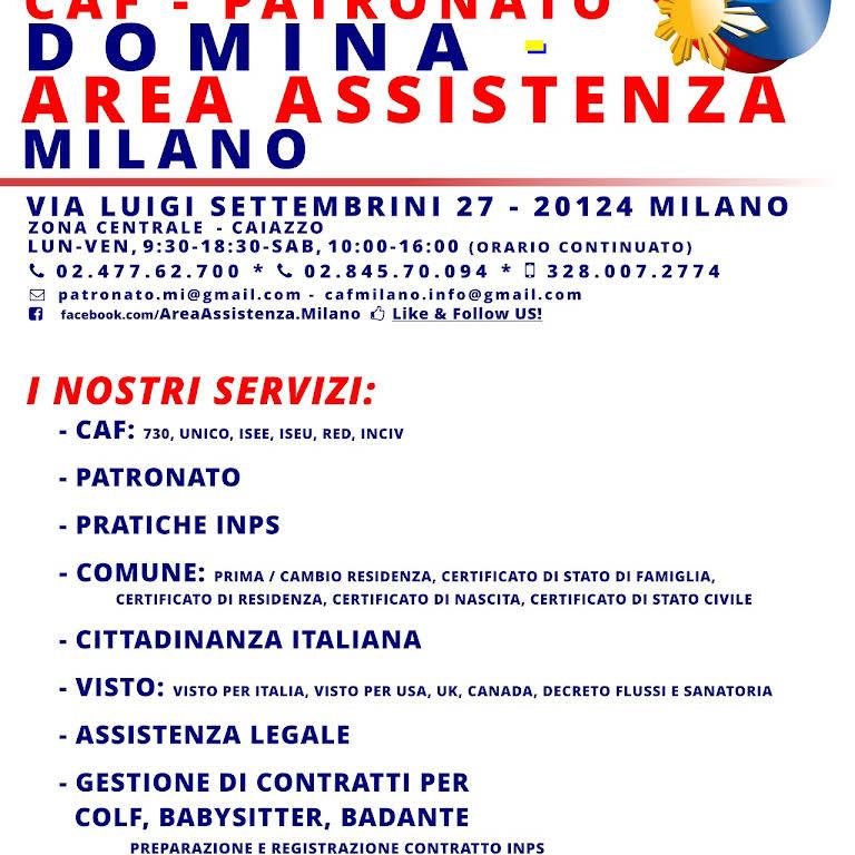 DOMINA - Area Assistenza Milano PER STRANIERI - CAF ...