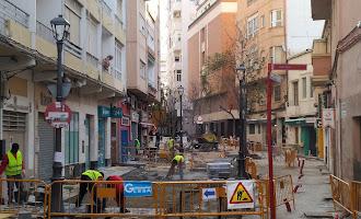 El centro de Almería en obras