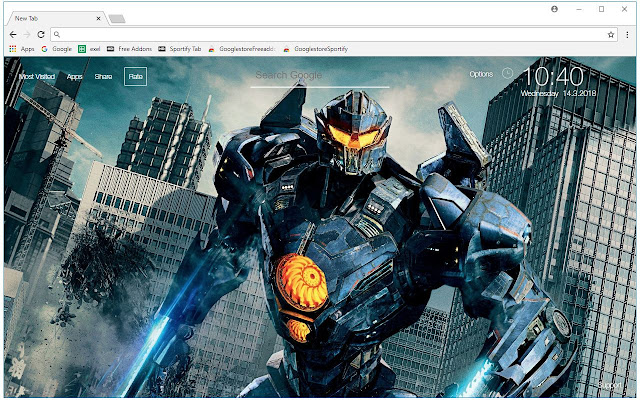 Pacific Rim Uprising Wallpapers New Tab