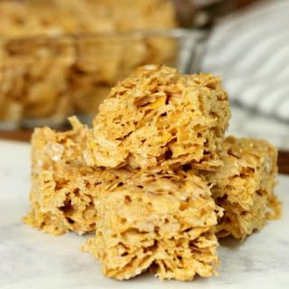 No Bake Cinnamon Corn Flake Cereal Bars.