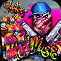 Graffiti Gun Mask Skull Keyboard Theme icon