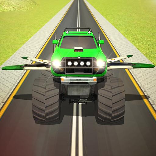 Flying Truck Pilot Driving 3D