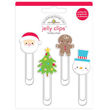 Doodlebug Jelly Clips 4/Pkg - Holiday Cheer