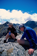 Photo: Swiss Hikers look cool and refreshed on summits