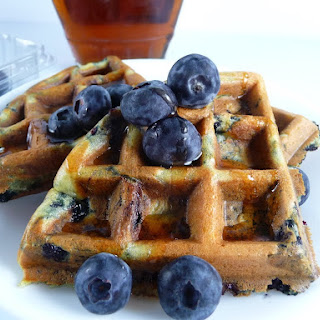 Wild Blueberry Buttermilk Waffles.