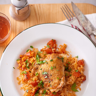Tomato-Basil Chicken and Rice.