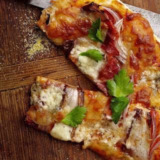 Chicory and Gorgonzola Pizza.