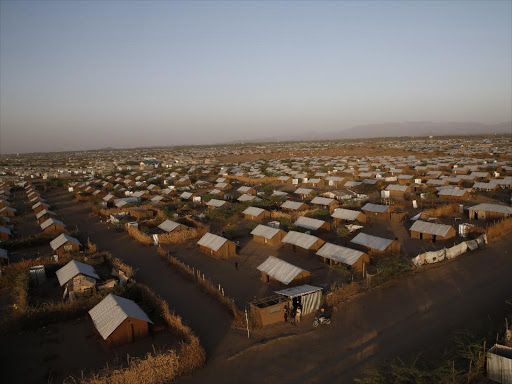 An aerial picture of Kakuma refugee camp. /FILE