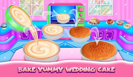Wedding Cake Maker Girls Cooking Game apktram screenshots 8