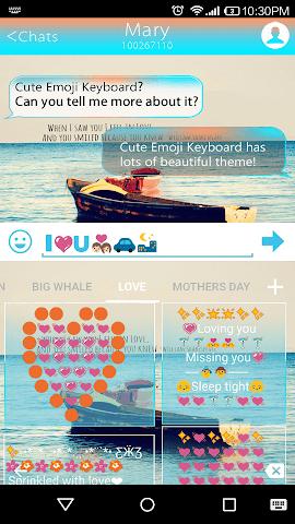 android Quotes Emoji Keyboard Theme Screenshot 3