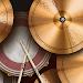 CLASSIC DRUM: Vintage drum set icon