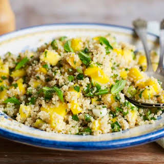Quinoa Salad With Mint And Mango.