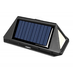 Set 3 x Lampa 166 LED cu panou solar si senzor de miscare