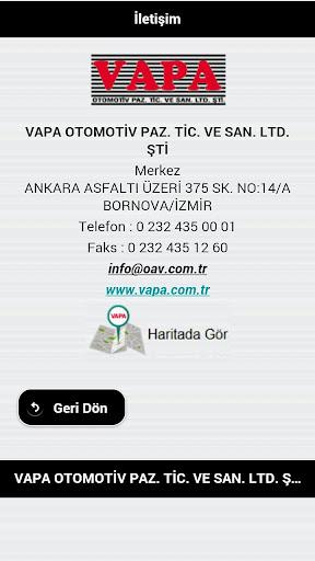 VAPA Oto.Paz. Tic.San.Ltd.Şti.