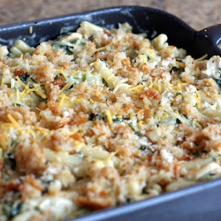 Chicken, Kale, and Pasta Casserole with Cheese Recipe