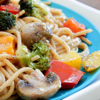 Clean Eating Pepper Loaded Vegetarian Spaghetti