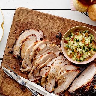 Cider-Brined, Mustard-Glazed Pork Loin