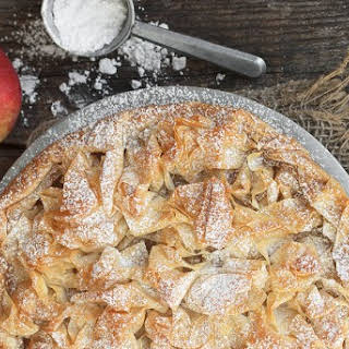 Frilly Phyllo Apple Tart.