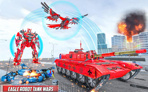 Tank Robot Game 2020 - Eagle Robot Car Games 3D 1.0.5 screenshots 1