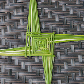 A St. Brigid's Cross. by John Greene - Abstract Patterns ( religious, cross, rushes, tradition, st. brigid, religion, ireland )