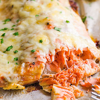 Baked Salmon with Cheese Recipe
